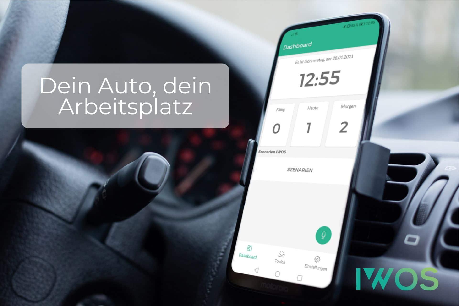 Mit der LUI-App auch während der Autofahrt arbeiten können