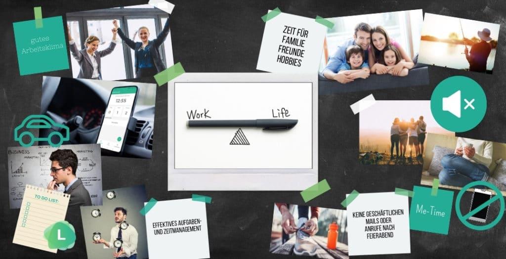 Visionboard der IWOS GmbH zur Vermittlung von Unternehmenszielen